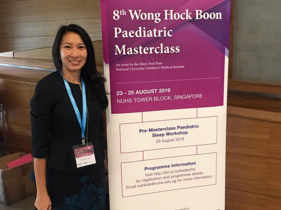 Dr Cheryl Ngo at NUHS for WHB Paediatric Masterclass