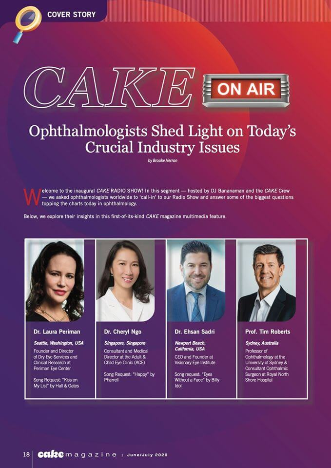 Ophthalmologists crucial industry issue discussion on CAKE magazine