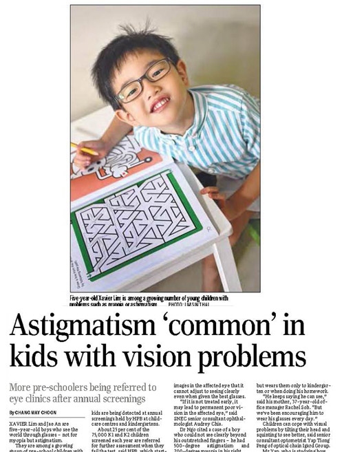 eye specialist media articles - The Straits Times October 2014