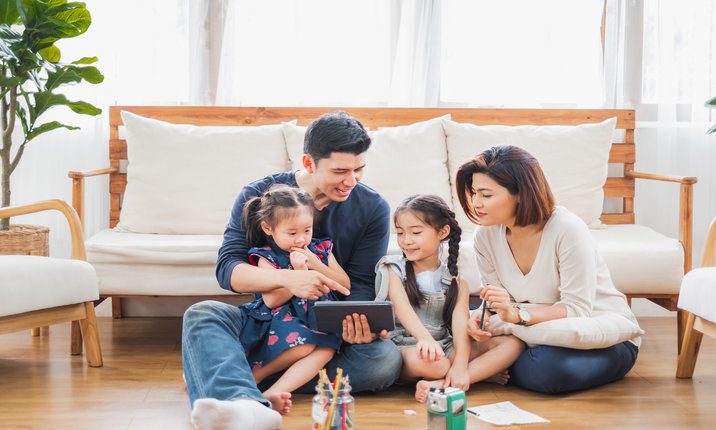 Screen time together as a family