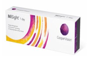 a box of disposable contact lenses