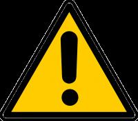 Avoid warning sign