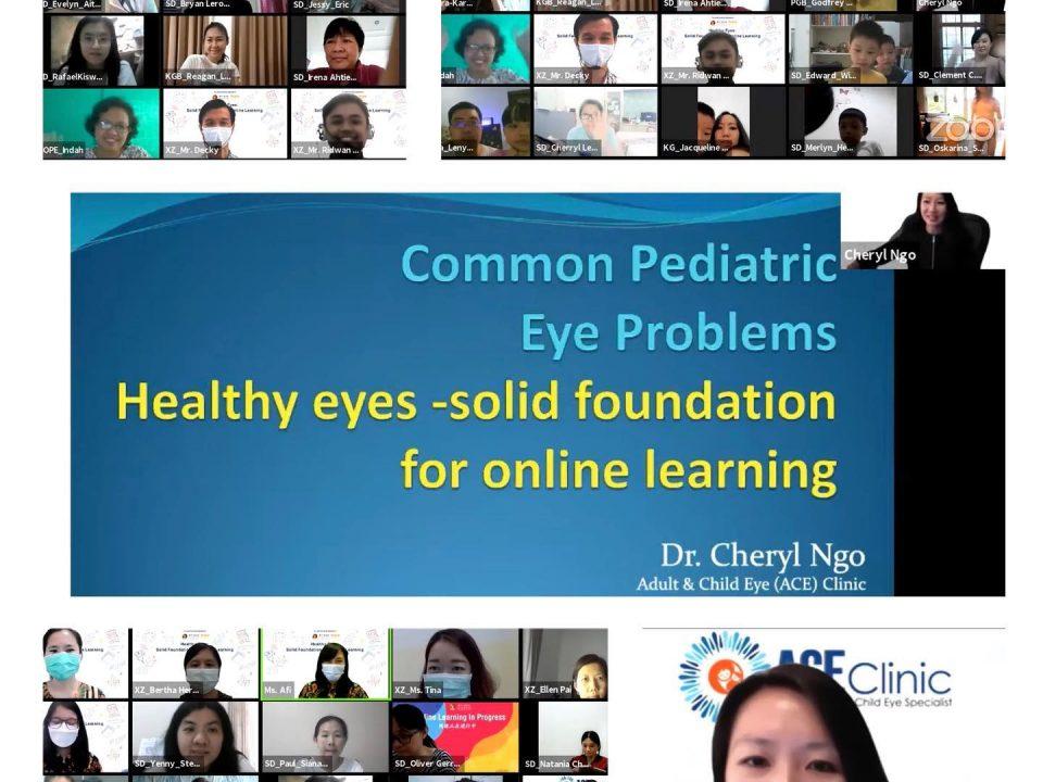 Dr Cheryl sharing on common paediatric eye problems