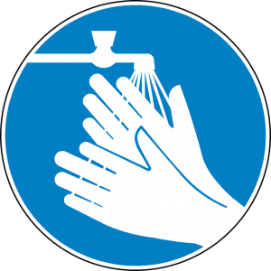 Wash hands for proper contact lens care